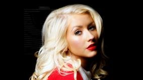 Christina Aguilera Side Face Closeup And Red Lips